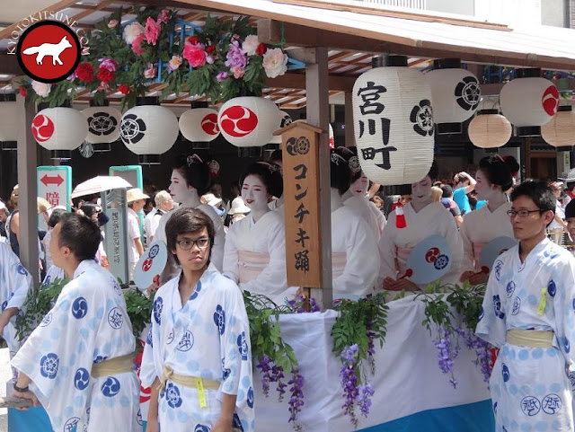 Char des Geiko de Kyoto pendant le Gion matsuri
