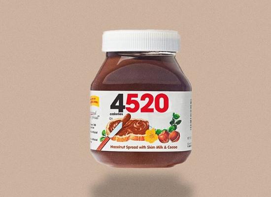 Quantidade de calorias - Nutella