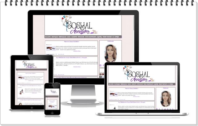 Duyarlı Blog Tasarım-Sosyal Anneyim