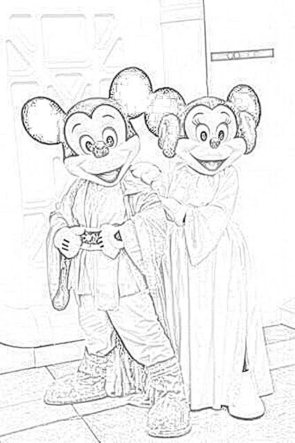 Minnie Mouse and Mickey Mouse at Walt Disney World coloring.filminspector.com