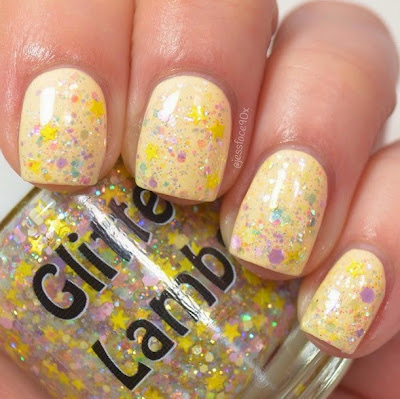 "Golden Honey Foundation ""Fashion Makeover Collection"" Glitter Lambs Nail Polish Swatched By @JessFace90x"