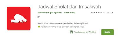 aplikasi Jadwal Sholat Dan Imsak terbaik
