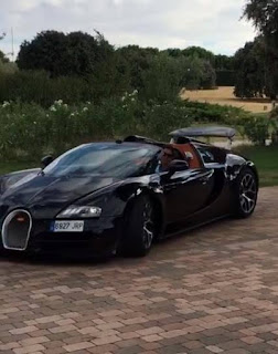 cristiano ronaldo shares a video of himself driving his bugatti veyron around his. Black Bedroom Furniture Sets. Home Design Ideas
