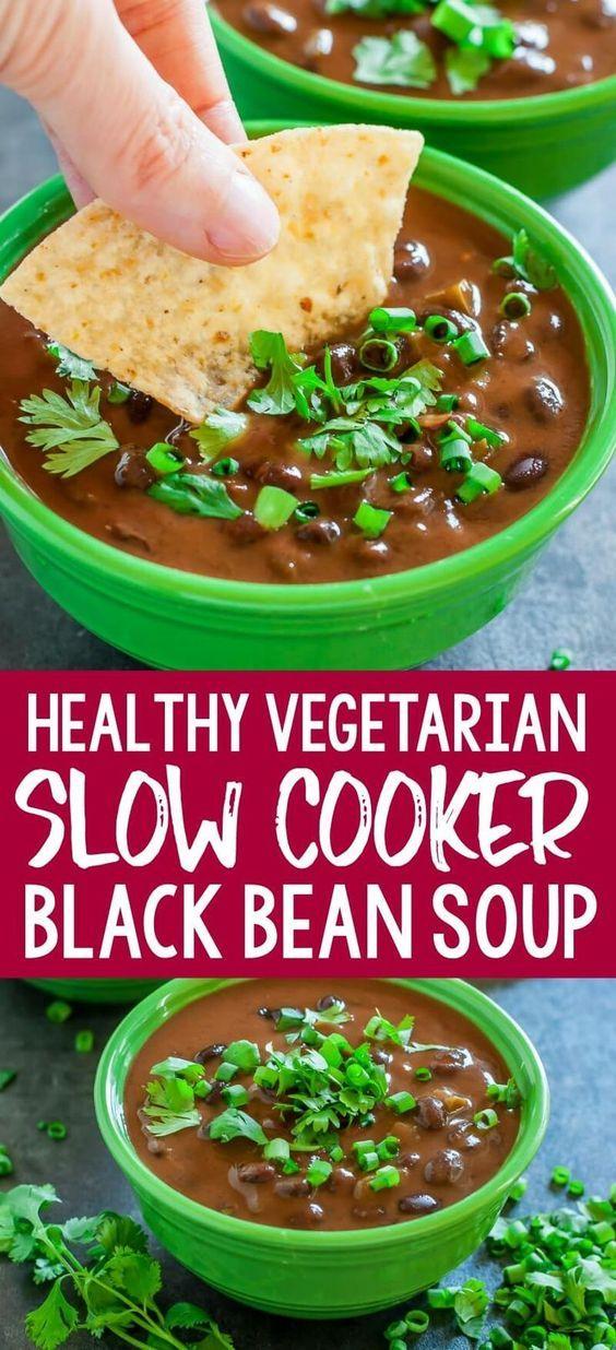 Stunning Slow Cooker Black Bean Soup Recipe