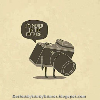 Sad camera thinking - I'm never in the picture! :( funny meme