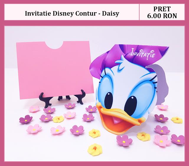 invitatii botez contur Daisy