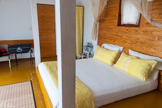 Habitación del Hotel Altiplánico Rapa Nui. Dormir en Isla de Pascua