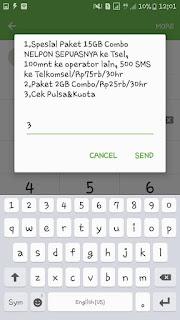Cek kuota telkomsel menggunakan dial-up bagian 1