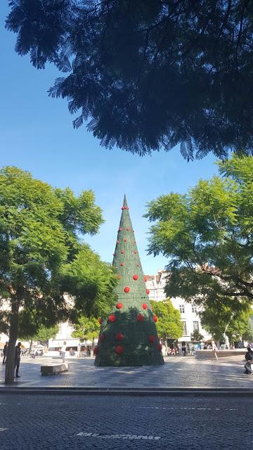 Christmas is everywhere already, Lisbon, Rossio