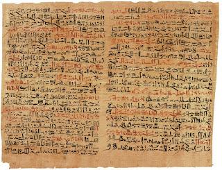 papyrus, hieroglyphics