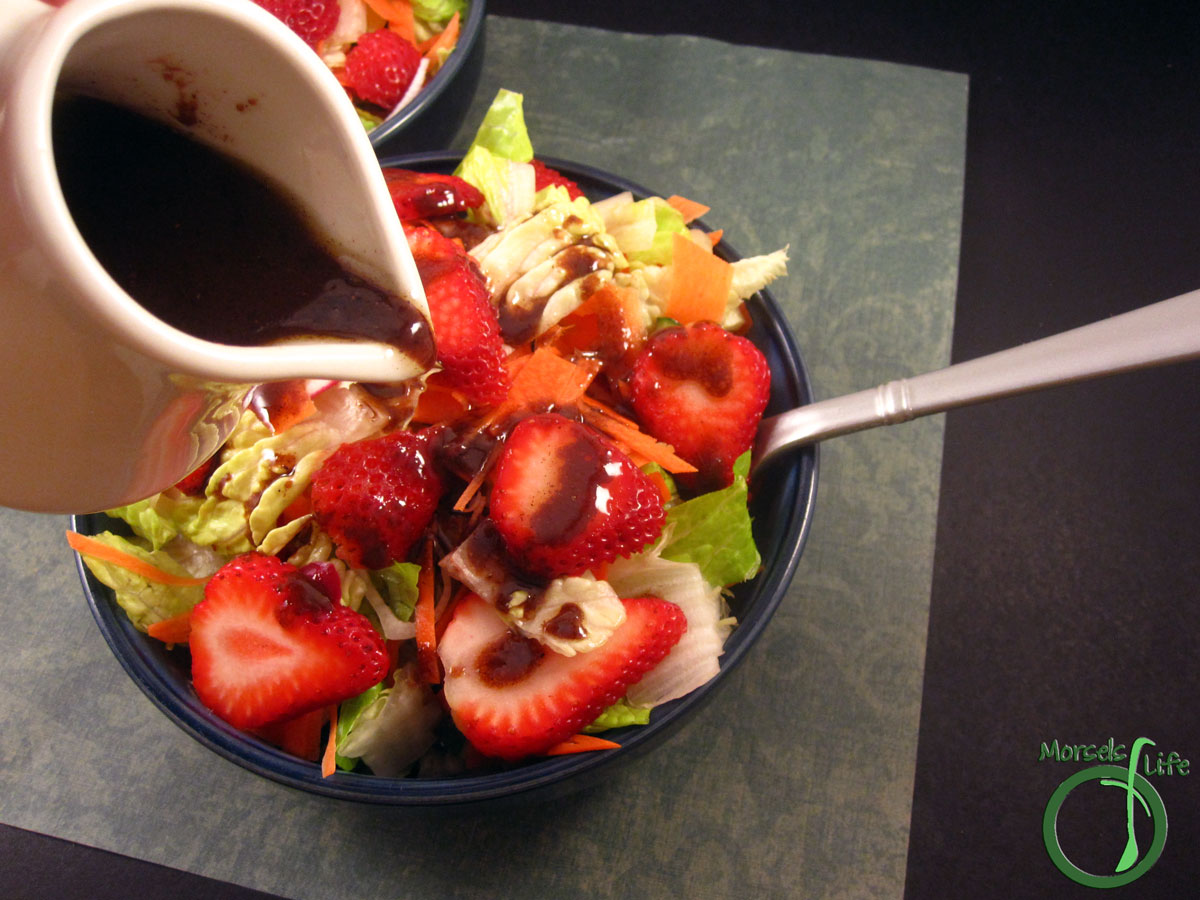 Morsels of Life - Roasted Strawberry Balsamic Vinaigrette - Perfectly pair roasted strawberries and balsamic vinegar in a sweetly tangy roasted strawberry balsamic vinaigrette.
