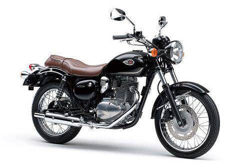 kawasaki w250 SE motor dengan desain retro modern