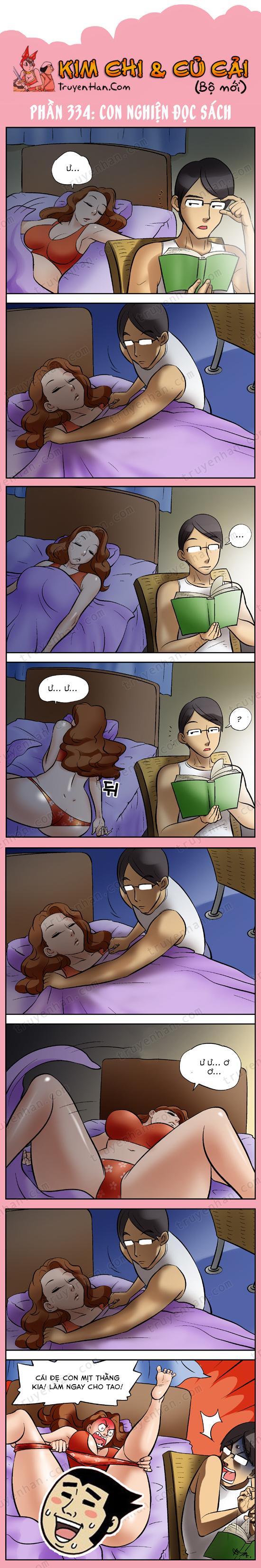 Kim Chi & Củ Cải (bộ mới) phần 334: Con nghiện đọc sách