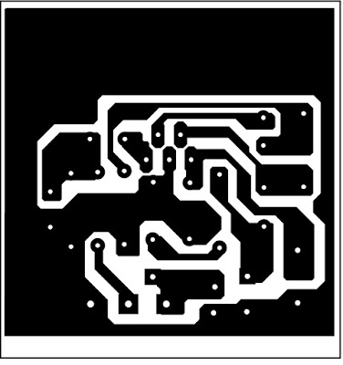 layout amplifier Mono 25 Watt