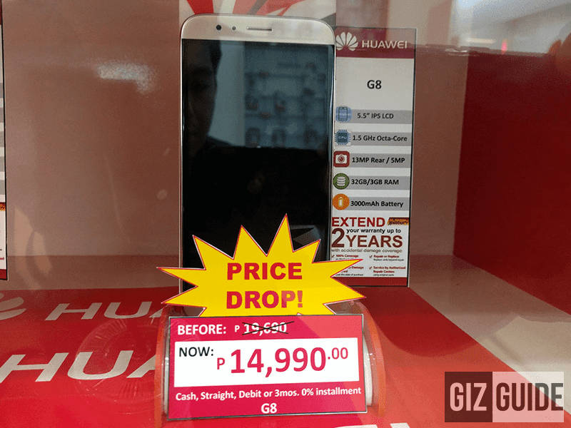 Huawei G8 now on sale for 14,990 Pesos