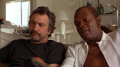 Robert De Niro (left) and Samuel L. Jackson in Jackie Brown, Directed by Quentin Tarantino