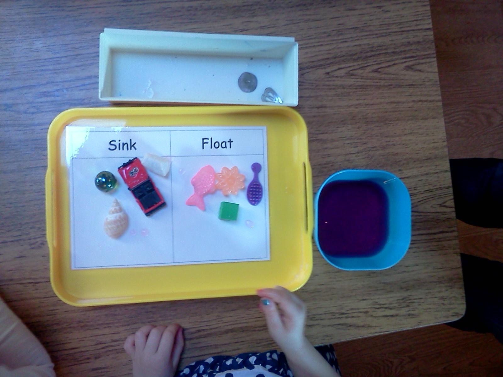 Montessori Design Sink And Float