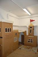 castillo y fuerte de carton para niños