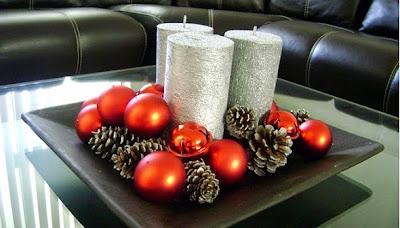Manualidades centro de mesa - Centros navidad caseros ...