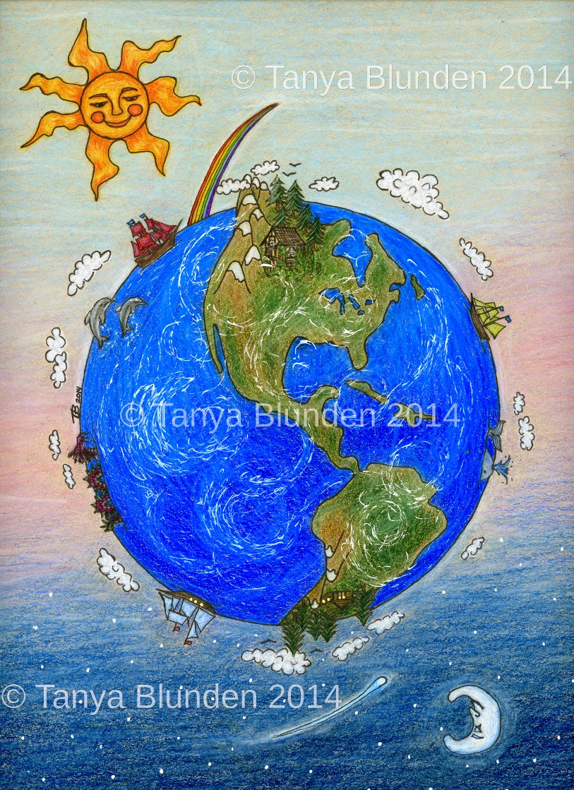 Around the World by Enchanted Visions Artist, Tanya Blunden