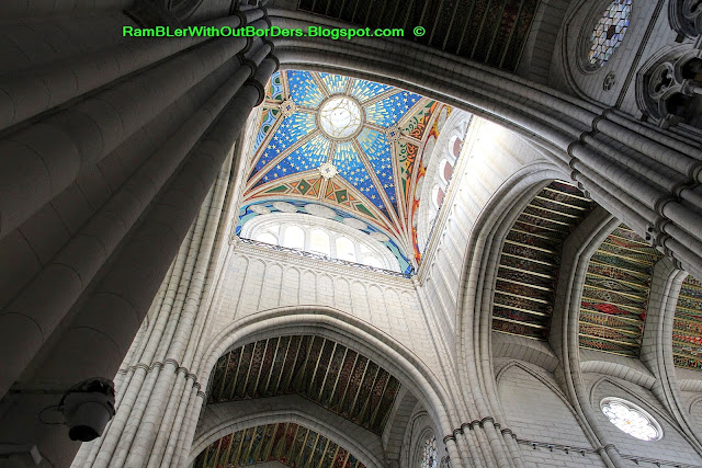 Ceiling of the dome, Almudena Cathedral, Madrid, Spain