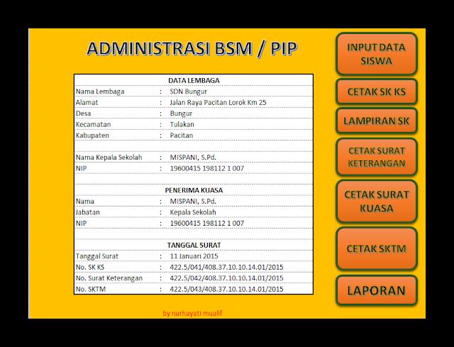 Aplikasi Administrasi Bantuan Siswa Miskin ( BSM ) / Program Indonesia Pintar ( PIP ) Terbaru