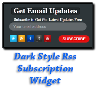 Dark Style Rss Subscription Widget For Blogger
