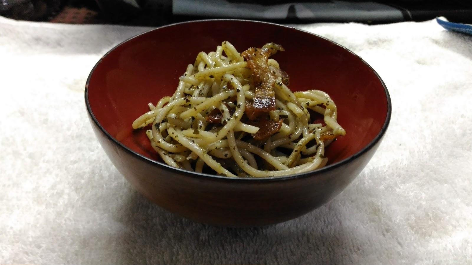 Savory Pesto with Bacon Strips