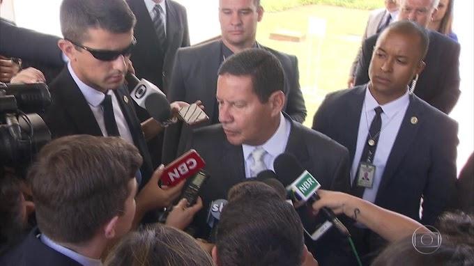 BRUMADINHO: Mourão diz que condução do desastre agora é com MG e cobra apuração do Ministério Público.