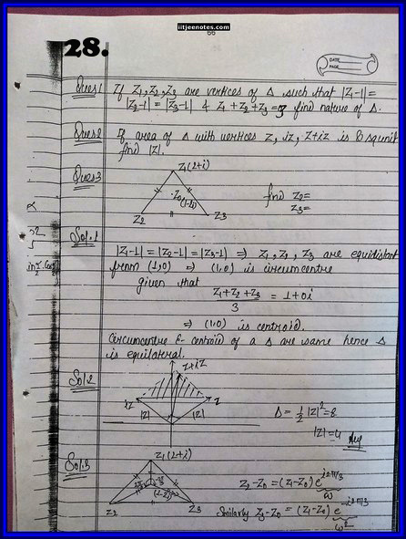 IITJEE Competition Notes On Complex Number 2