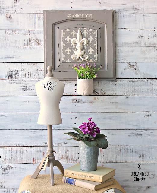 French Style Decor from a Cabinet Door