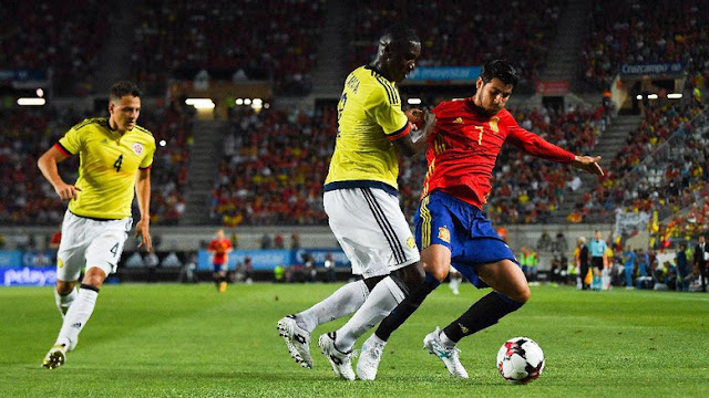 Spanyol Imbang 2-2 Lawan Kolombia