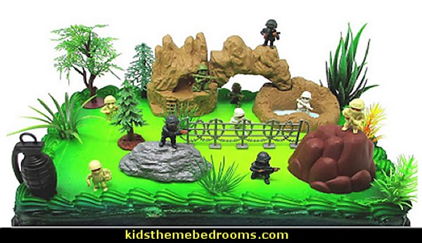 Black Ops - Special Forces Birthday Cake Topper Set  army party decorations - Camouflage Party Supplies - army party ideas - Military party ideas for a boy birthday party - Army & Camouflage decorations - army party decoration ideas - army themed party - army costumes - Army Camo Party Supplies -