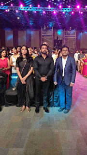 Surya , Jyothika and AR Rahman at Filmafare 2017 awards