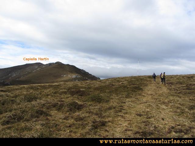 Ruta Alto Aristebano, Estoupo, Capiella Martín: Camino a la antena del Couzrago