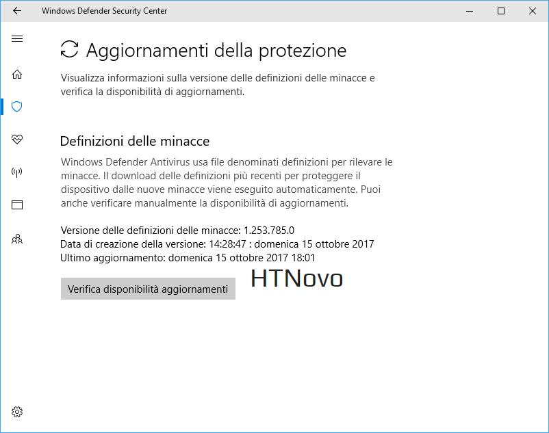 manualmente aggiornamenti windows defender