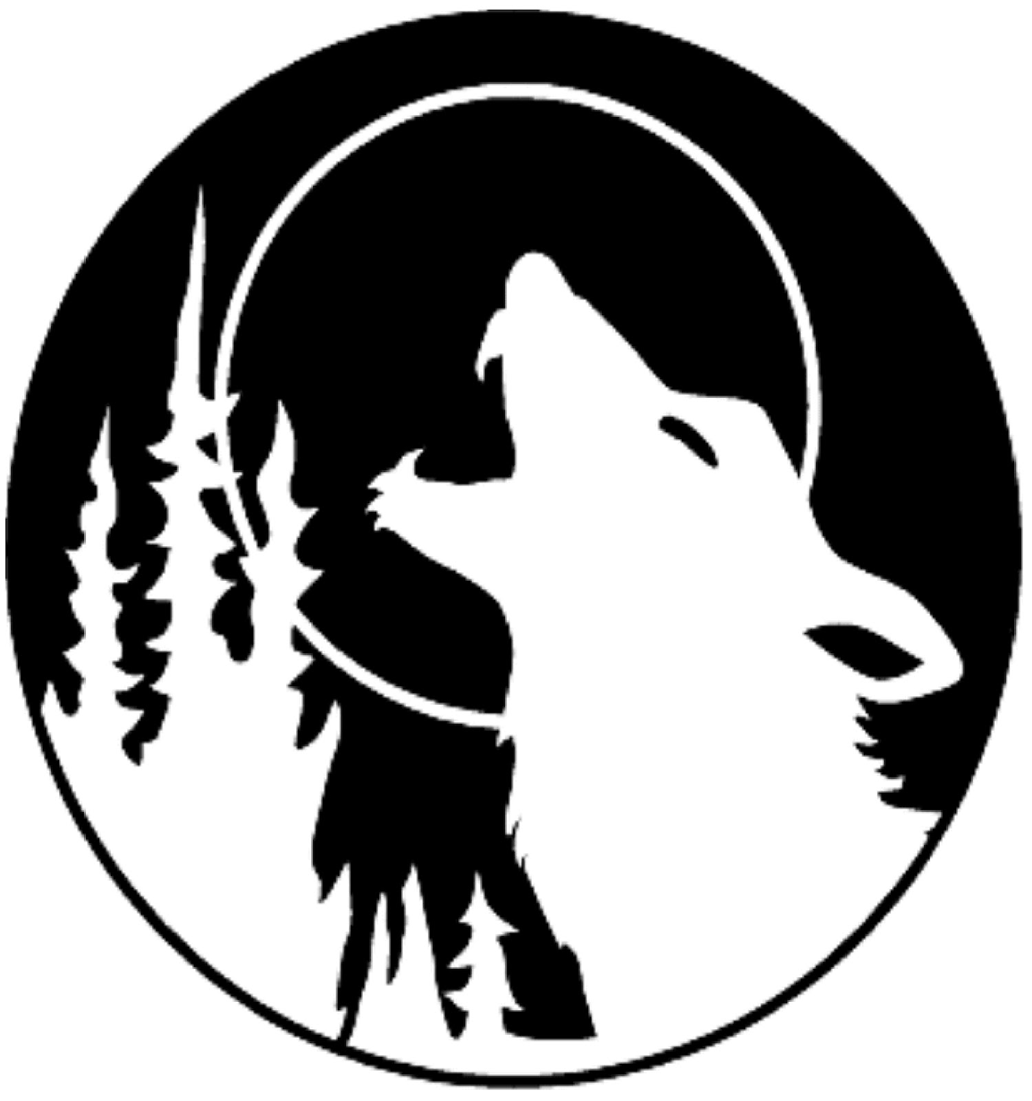 HOWLING WOLF PUMPKIN CARVING TEMPLATE