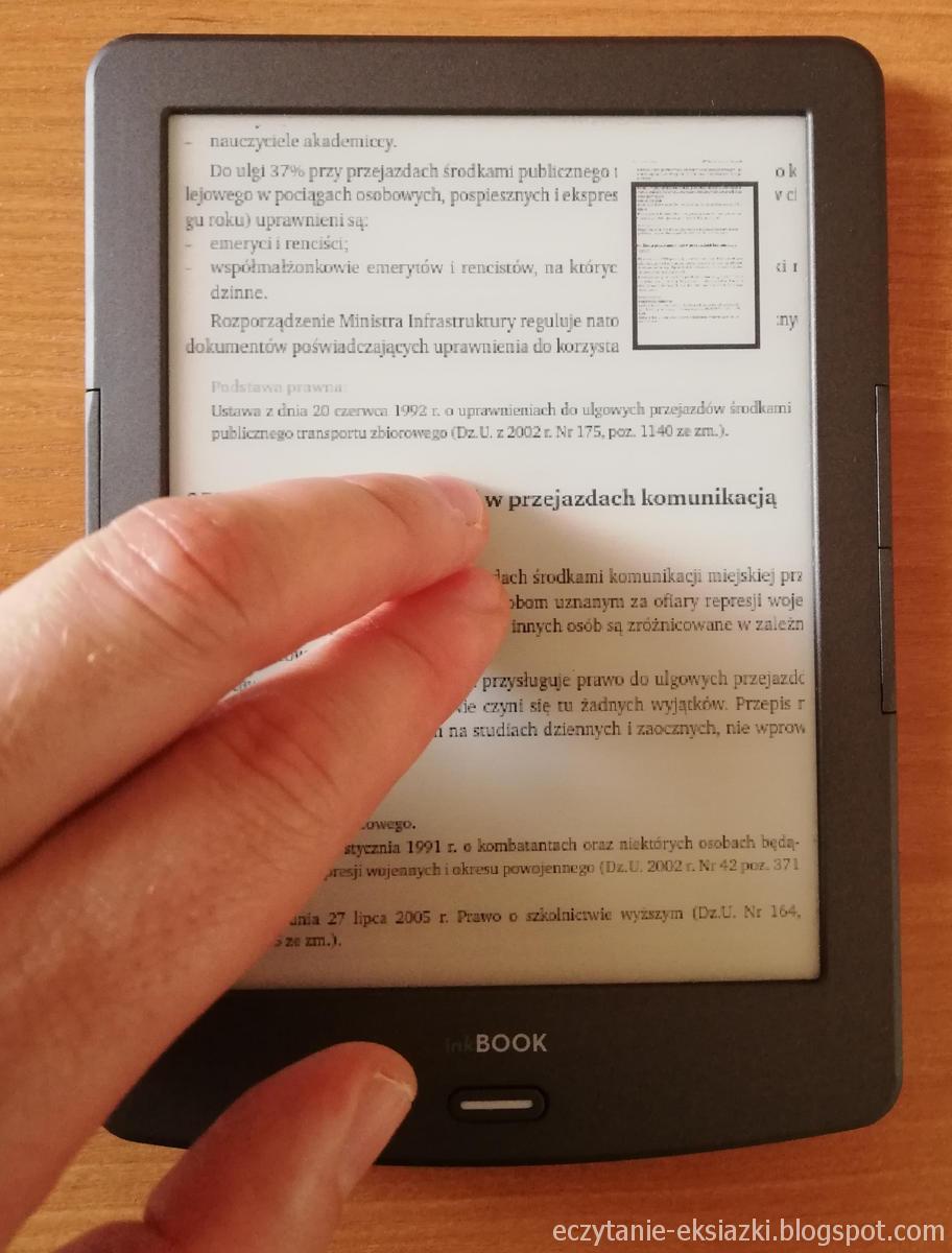 Powiększanie pliku PDF w InkBOOK Classic 2