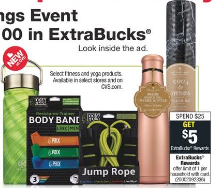 CVS deals on fitness and yoga products