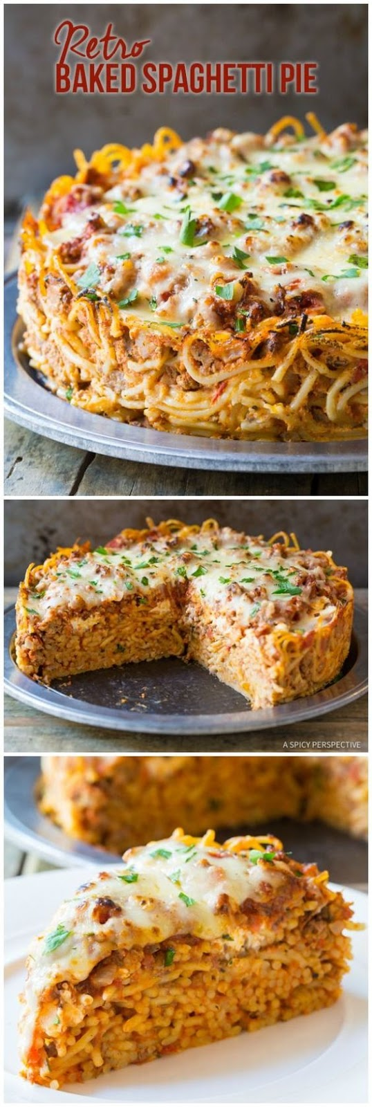 Baked Spaghetti Pie Recipe