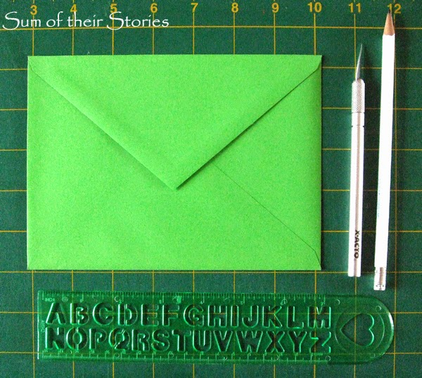 paper cutting to make envelopes fancy