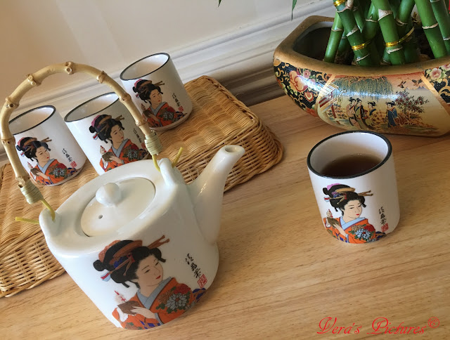 Japanese Geisha Tea Set from Enjoyingtea.com