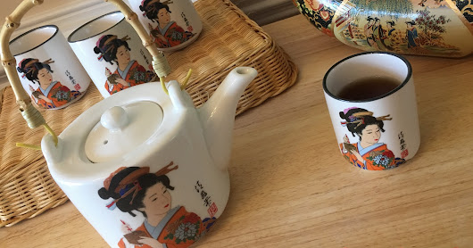 Enjoying Tea Company has many beautiful tea sets. The Japanese Geisha Tea Set is lovely, authentic, and servicable [Review & Giveaway]