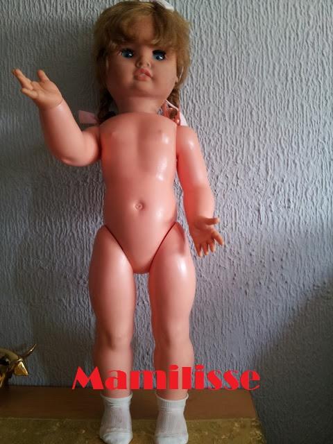 Muñeca Cristina años 60 sin ropa