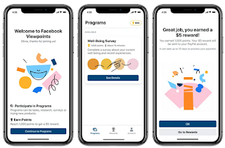 Facebook Viewpoints Research App