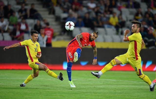 Rumania y Chile en partido amistoso, 13 de junio de 2017
