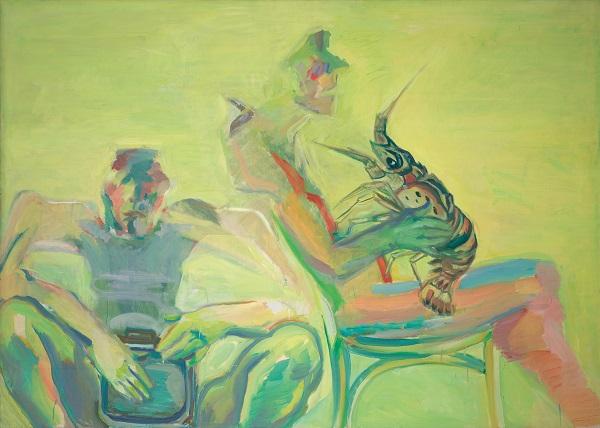 by Maria Lassnig - Doppio autoritratto con aragosta - 1979