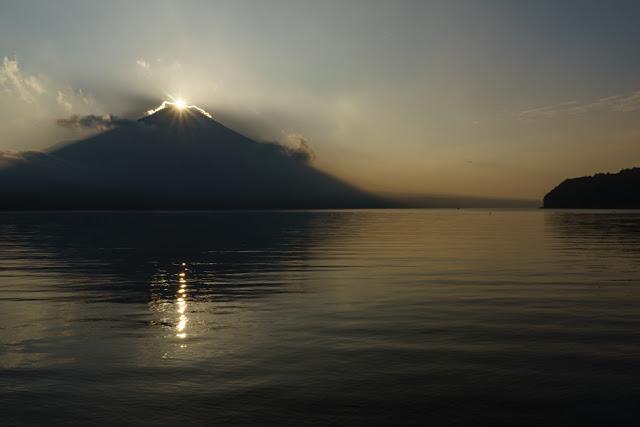 夕日のダイヤモンド富士~山中湖平野