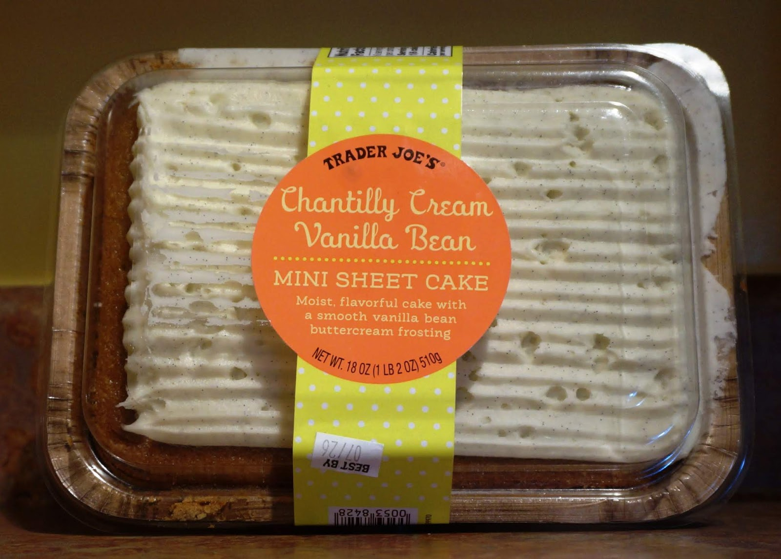 Exploring Trader Joe S Trader Joe S Chantilly Cream Vanilla Bean Mini Sheet Cake