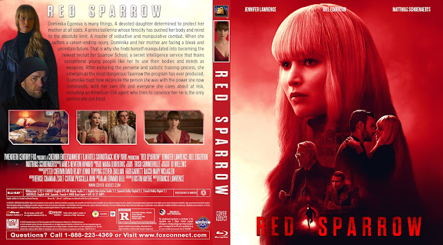 Red Sparrow Bluray Cover | Cover Addict - Free DVD, Bluray ...